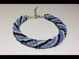 bead bracelet crochet images Diy spiral crochet bracelet with beads jpg