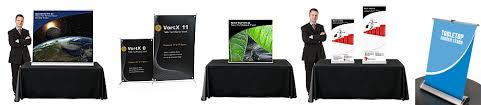 table banners and signs table top banner stands tradeshowdisplaypros