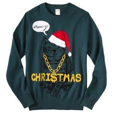 meowy christmas sweater 15 hideously tacky sweaters we to see this season