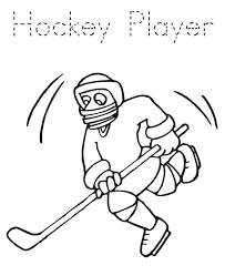 hockey coloring pages player sport coloring pages of