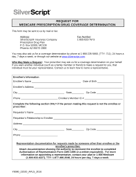 free silverscript prior rx authorization form pdf eforms