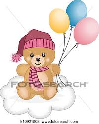 teddy balloons clip of teddy flying balloons k10921508 search