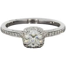 tacori halo engagement rings tacori certified dantela halo engagement ring at 1stdibs