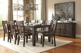 dining room tables set 9 piece rectangular dining table set with wood seat chairs by
