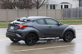 toyota usa toyota c hr compact crossover spied mostly undisguised