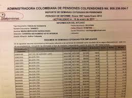 colpensiones certificado para declaracion de renta 2015 indignante así roban las pensiones en colombia voilà heme aquí