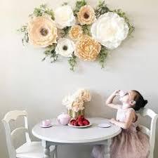pottery barn kids flower table jumbo crepe paper flowers set of 2 pink pink paper nursery and room