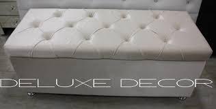 harper elegant beige velvet tufted upholstered storage ottoman