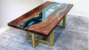 live edge river table epoxy live edge river table woodworking how to youtube