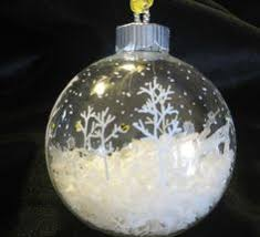 go with dark paint on a clear ornament filled with snow super fun