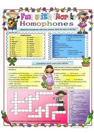 68 free esl homophones worksheets