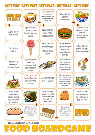 food boardgame free esl worksheets moco time pinterest