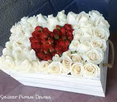 roses in a box white roses with center heart in a box in burbank ca