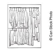 vector clipart of closet with fashion clothes wardrobe room with