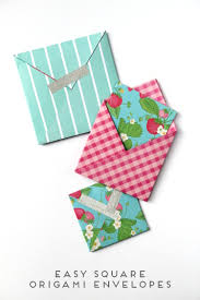How To Fold Envelope Easy Square Origami Envelopes Gathering Beauty