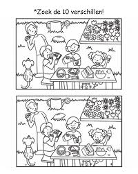 find the differences at a picnic hidden pictures worksheets