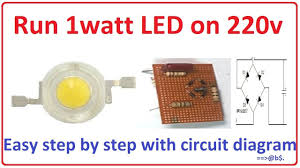 how to run 1 watt led bulb on 220v easy step by step with