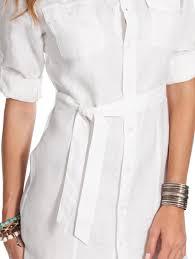white linen shirt dress white safari shirt dress island company