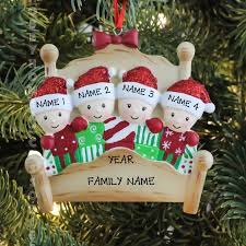 bed heads family of 4 personalized tree ornament ebay