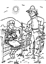 Wizard Of Oz Coloring Pages Dorothy And Scarecrow Coloringstar Wizard Of Oz Coloring Pages