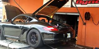 porsche v8 dyno test coyote powered porsche cayman ford authority