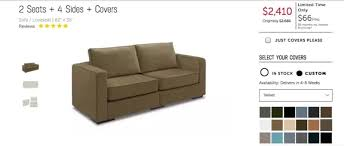 Love Sac Sofa by Lovesac Sactional Sofa 2 Seats 2 Sides Cover Used For Sale