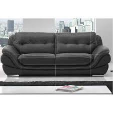 le canapé salon cuir le canape 3 places a achat vente ensemble