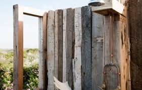 Simple Outdoor Showers - a homemade outdoor shower hunker