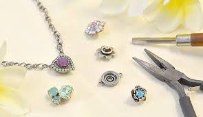 necklace stone setting images Necklaces bracelets with snap button replaceable stone settings jpg