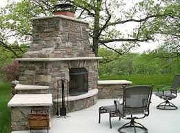 Stacked Stone Outdoor Fireplace - low profile outdoor fireplace google search backyard