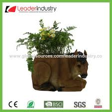 china design decorative resin flower pot with cow statue