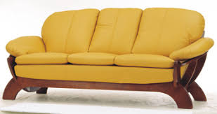 Yellow Leather Sofa European Style Yellow Leather Sofa 3d Model Download Free 3d