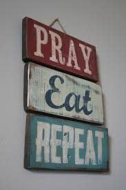 Home Decor Online Stores Pray Eat Repeat Hand Painted Pallet Sign Shanty Town Home Decor