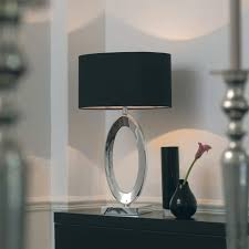 Silver Nightstand Lamps Black And Silver Table Lamps With Endon Nerino 1 Light Modern Lamp