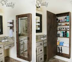 Wall Storage Bathroom Diy Bathroom Wall Mirror Storage Tutorial
