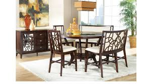 highland park ebony 5 pc counter height dining room bench u0026 stool