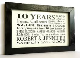 10 year anniversary gift for 10 10 year wedding anniversary gift ideas for him 10 year wedding
