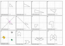 identifying a mirror line quiz u0026 reflection worksheet y u003dx y u003d x