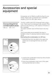 accessories and special equipment connecting kit for condensation