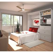Bedroom Wall Units With Drawers Bestar Audrea Full Wall Bed With 36