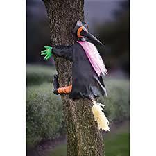 Flying Witch Decoration Amazon Com Betty Bash Crashing Witch Into Tree Halloween