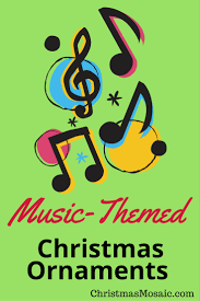 music themed christmas ornaments christmas mosaic