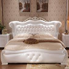 Diamond Furniture Bedroom Sets by White Leather Diamond Bed White Leather Diamond Bed Suppliers And