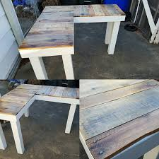 reclaimed wood l shaped desk rustic reclaimed wood l shaped desk your choice in color frame we