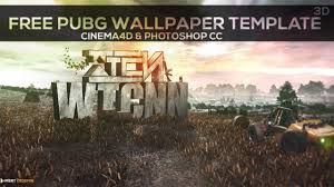 pubg wallpaper pc free pubg wallpaper template cinema4d photoshop cc 2017 youtube
