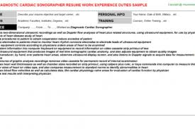 Ultrasound Resume Examples by Entry Level Sonographer Sample Resume Example Resumes Design
