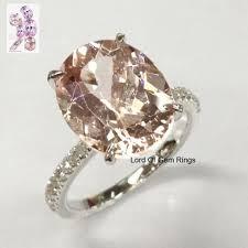 morganite engagement ring white gold 629 oval morganite engagement ring pave wedding 14k white