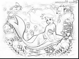 spectacular princess ariel dress coloring pages with princess