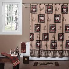 Curtain Place Wooded River Lodge Shower Curtain Collection Cabin Place