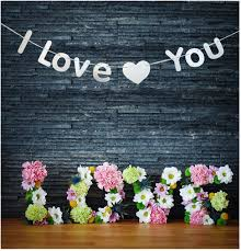 Valentine S Day Wedding Decorations by Aliexpress Com Buy I Love You Banner Propose Marriage Room